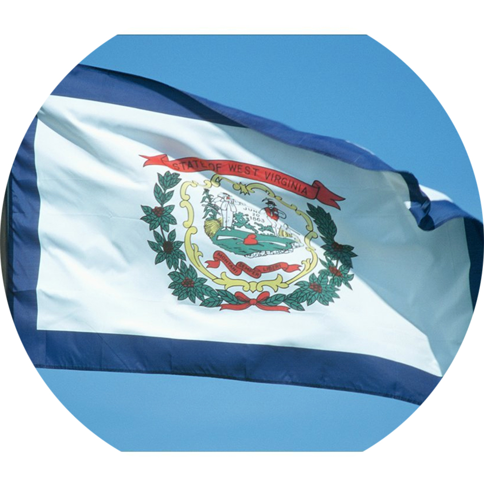 Nylon West Virginia State Flag